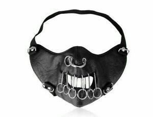 Adult steam PUNK rave PU Leather mask Cosplay Halloween party Cosplay Costumes