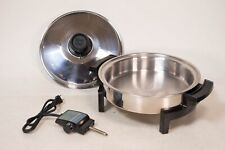 West Bend Lustre Craft Liquid Core Electric Skillet Waterless Vapor Tested Nice!