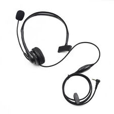 2.5mm Earpiece Headset Headphone Mic for Motorola Two Way Radio T5140 T5428