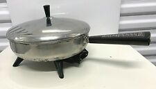 Vintage Farberware Stainless Steel 310-A 10 Inch Electric Skillet Fry Pan