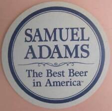SAMUEL ADAMS BOSTON LAGER, BEST BEER COASTER, Mat with MAN, MASSACHUSETTS 1994