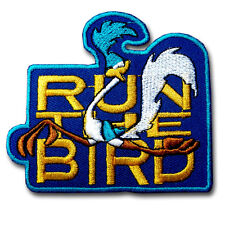 Road Runner Patch Embroidered Iron on Badge BSA Hot Cartoon Bird Plymouth Dodge