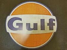 """NEW 28"""" LARGE GULF METAL Home Wall Art Plaque gasoline oil shop (FAST SHIPPING)"""