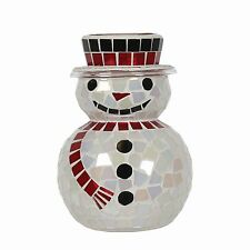 Village Candle 15.5cm Snowman Glass Wax Melt / Oil Burner