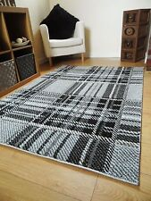 Small Large XL Modern Design Silver Grey Patterned Rugs Long Hall Runner Mats