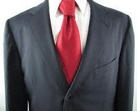 "Navy Blue Pinstripe 100% Wool "" ERMENEGILDO ZEGNA "" 3 Button 44 L Jacket Coat"