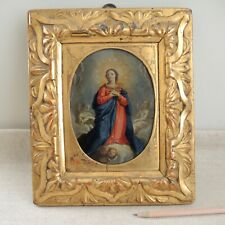 18th-C Immaculate Conception Painting Copper Virgin Mary Saint Italian School