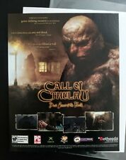Call Of Cthulhu PC XBox   2004 Vintage Game Print Ad Poster Promo H.P. Lovecraft