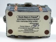 Boyds Bears Resin Treasure Box Zazu's Attic & Snoozy McNibble Mouse Figurine Art