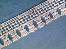 dentelle blanche, guipure, 3 cm, lace, vendue au mètre, 1 yard