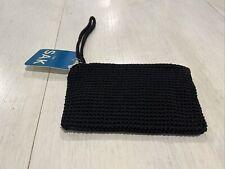 THE SAK ALANA BLACK KNIT CROCHET POUCH/CASE/WALLET/TRAVEL CLUTCH BAG~NEW