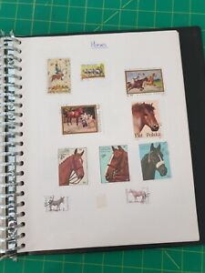 Large selection of used and unused stamps both UK and worldwide in folder