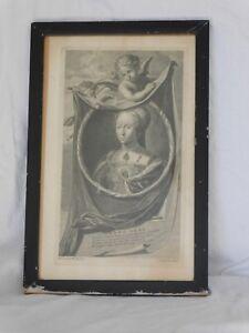 Antique Engraving Print of Lady Jane Grey by Cornelis Vermeulen