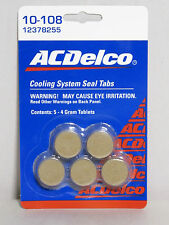 GM Radiator - AC Delco 10-108 Cooling System Seal Set of 5 - 4 Gram Tablets OEM