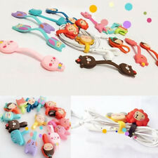 2pcs Cute Cartoon Earphone Winder Cable Cord Organizer Holder Phone Cable Holder