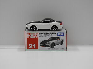 1:57 Abarth 124 Spyder (White & Black) - Made in Vietnam Tomica 21