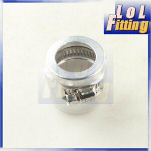 -14AN AN14 AN 14 HEX Finisher Adapter Fuel Hose Clamp Aluminum Silver