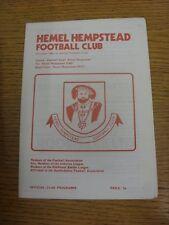 14/03/1978 Hemel Hempstead v Dagenham [Hitachi Cup] . Condition: We aspire to in
