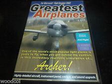 Greatest airplanes  Archer    Msoft flight sim add on 2002   pc