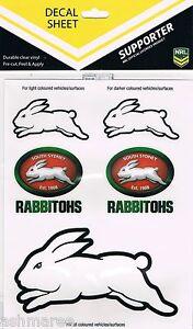 2 x NRL South Sydney Rabbitohs UV Outdoor Car Tattoo Sticker iTag Decal (10)