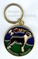 BOSTON TERRIER Dog KEY RING  Key Ring Keychain Key Chain NEW Great gift