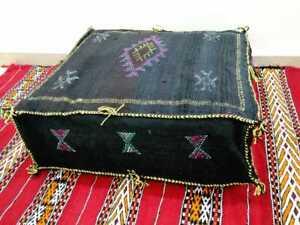 Lovely Moroccan Pouf Cactus Silk Floor Footstool Ottoman Pouf Pillow Handmade