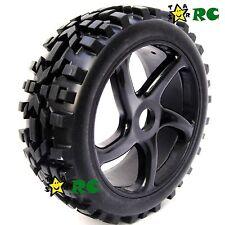 2pcs 1:8 RC Off Road Buggy Badlands Tires Hex 17mm Wheels for Car Upgrade parts