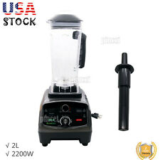 2l Heavy Duty Commercial Blender With Timer 2200w Bpa Free Fruit Juicer Usa
