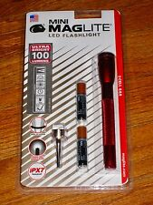 Maglite AAA 2 Cell LED Red maglight LED mag-lite mag-light LED 100 LUMENS