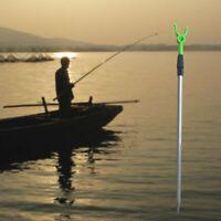 Adjustable Metal Fishing Rod Pole Holder Rack Stand Sections Bracket Vogue Y0M7
