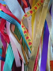 Ribbon Offcuts Bundle - Assorted Widths & Types - approx 70g to 80g - Lucky Dip
