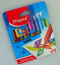 Maped Colour Peps Wax Crayons Triangular Ideal For Dyspraxia - Pack 12 861011