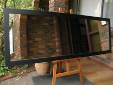 Large Full Length Wall Mirror Smooth Matt Black Wood Frame 2Mx72cm FREE SYD DEL