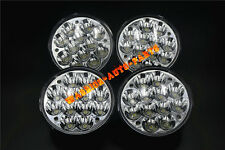 """5-3/4"""" Round H5001/H5006 Sealed Beam 36W LED Headlight Replacement Flood Spot x4"""