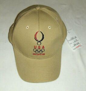 New USA OLYMPICS BEIJING 08 BASEBALL CAP O/S mens ADJUSTABLE U.S. HAT TEAM 2008