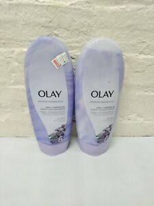 (2) Olay Moisture Ribbons Plus Body Wash ~ Shea + Lavender Oil ~ 18 oz Each