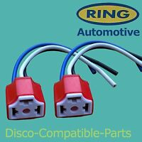 Land Rover Defender 2 x H4 Ceramic Headlight Connector Block By Ring