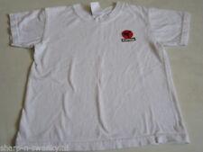 Camiseta de niño de 2 a 16 años de color principal blanco 100% algodón