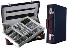 72 pcs Stainless Steel silver  Cutlery Set + CASE High Quality 12