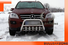 MERCEDES ML 2006-2011 TUBO PROTEZIONE MEDIUM BULL BAR INOX STAINLESS STEEL