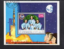 YEMEN  1970  SPACE - APOLLO     MINT VF LH O.G  S/S  CTO  (YE9)
