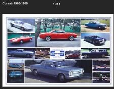 Corvair 1960-1969 History - Out of Print Very Hard to Find Car Poster!