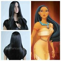 New Long Straight Black Wig Free Shipping Women Anime Wig Cosplay+ GIFT