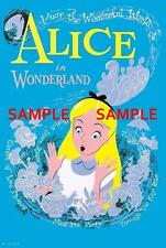 "Vintage Disneyland Alice in Wonderland  1958 [ 8.5"" x 11"" ]   Poster"