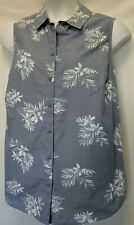 WOMEN'S PLUS SIZE 1X 16W FLORAL WOVEN TANK SUMMER PRINT SHIRT - CLOTHING NEW