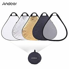 Andoer 30in76cm Portable Handheld Triangle Collapsible 5in1 Multi Reflector wit