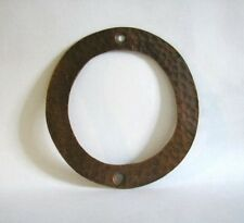 #0  Hammered copper house number. Craftsman/ Arts and Crafts. 6 inch high