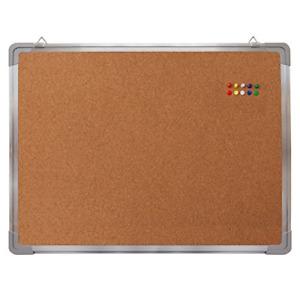 Cork Board Set Bulletin Corkboard 24 x 18 inch Framed with 10 Thumb Tacks Small