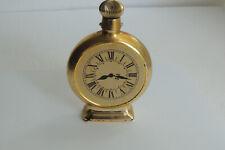 ~Avon~ Decanter Bottle Daylight Shavings Time Clock ~Gold Paint on Glass~1968