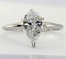 Anillos de joyería con diamantes solitario de oro blanco VS1